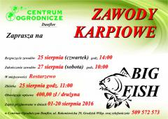 Plakat zawody karpiowe 2016