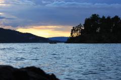 Mjøsa, zachód słońca